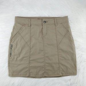 Prana | khaki above knee Monarch skirt
